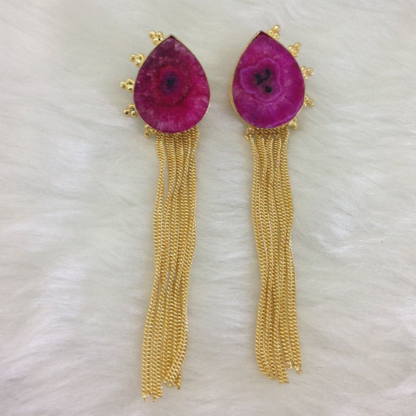 Magenta Waterfall Earrings