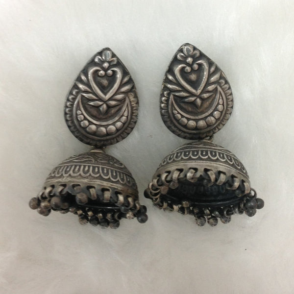 Silver Siren Jhumka Earrings