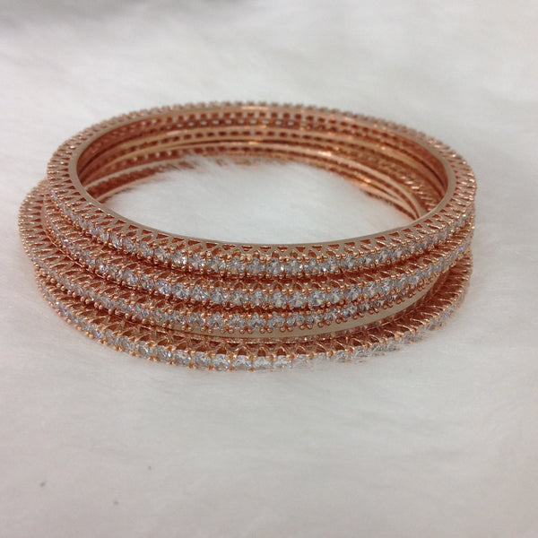 Exquisite Rose Gold & Crystal Bangles