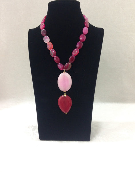 Delicious Hues of Pink Gemstone Necklace