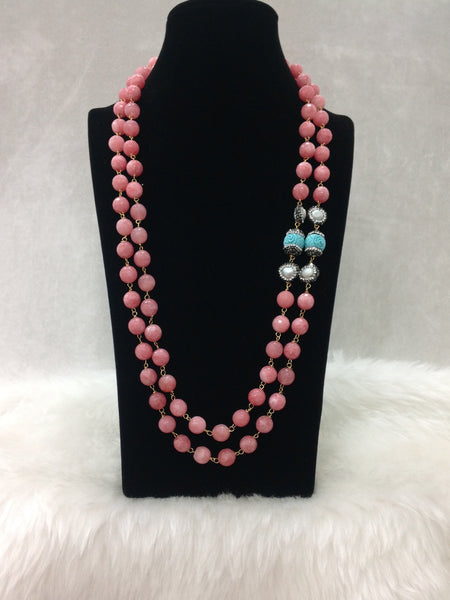 Admirable French Rose Pink Synthetic Coral Necklace