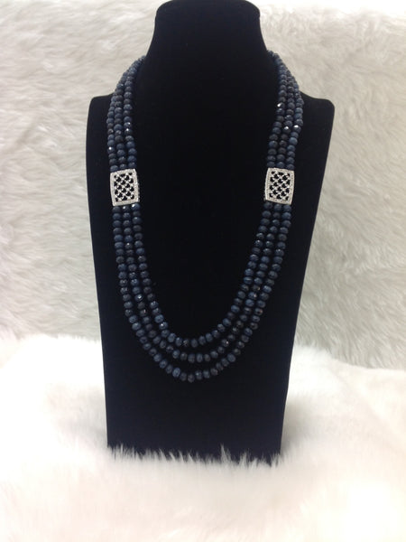 Navy Blue Cubic Zircon Necklace