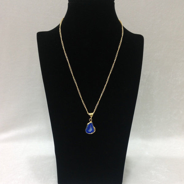 Bubbly Blue Druzy Pendant Necklace