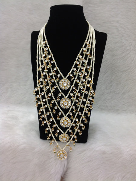 Dazzling Pearls with Kundan Necklace