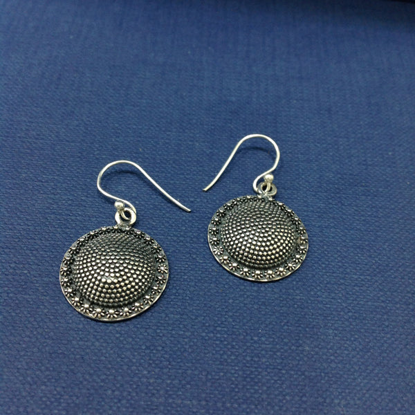 Ethnic Sterling Silver Dangler Earrings
