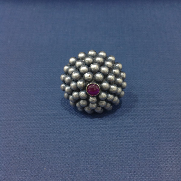 Pleasant Silvers Tied Together with Ruby Ring