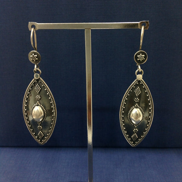 Silver Long Dangler Earrings