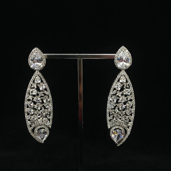 Splended Zirconia Long Earrings