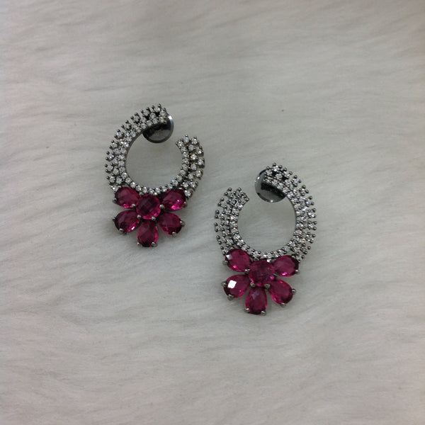 Ruby Pink Earrings