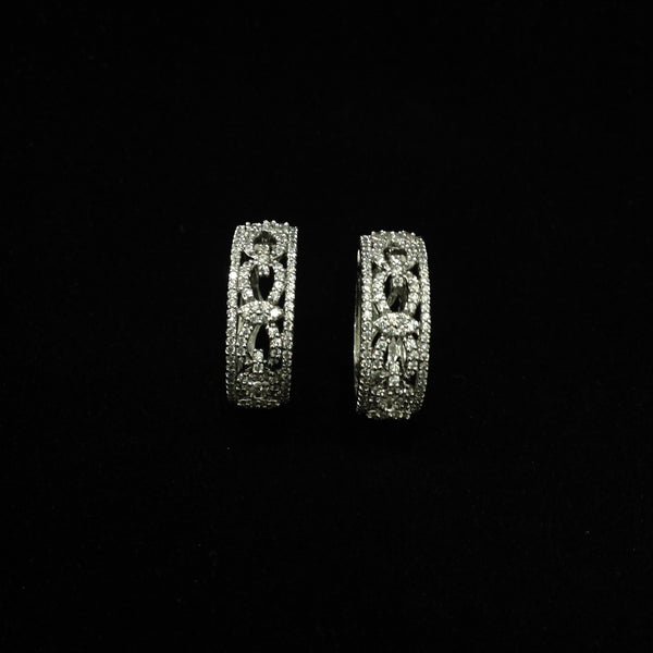 Cubic Zircon Bali Earrings