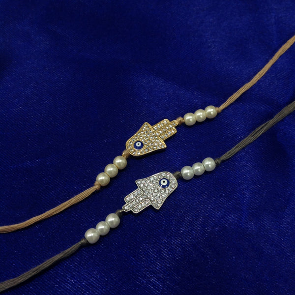 Crystal With Shell Pearl Set 2 Rakhi