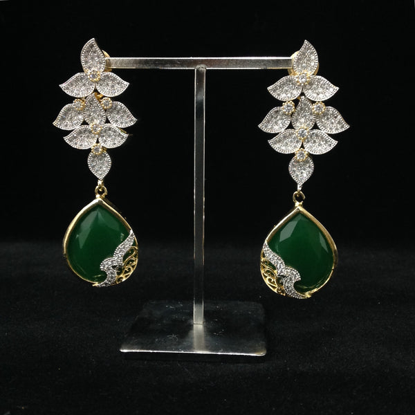 Fiery Green Leaf Fiesta Earrings