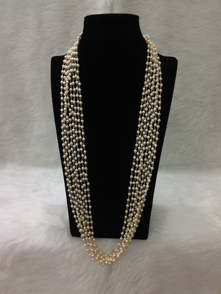 Graceful Pearl Bonds in Golden Enclosure Necklace