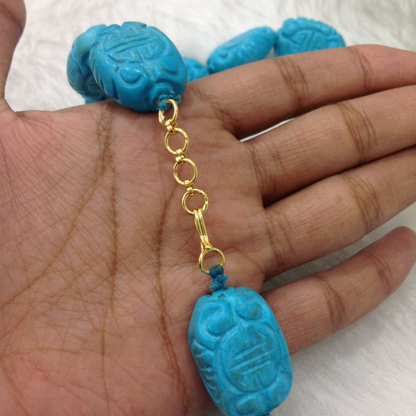 Turquoise Blue Stone Necklace