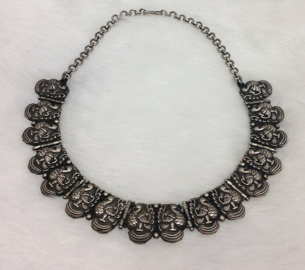 Silver Peacock Beautiful Choker Necklace