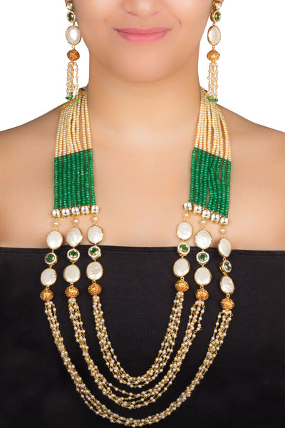 Green Maharani Haar Necklace