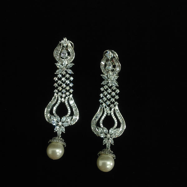 Astonishing Unique Crystal & Pearl Earrings