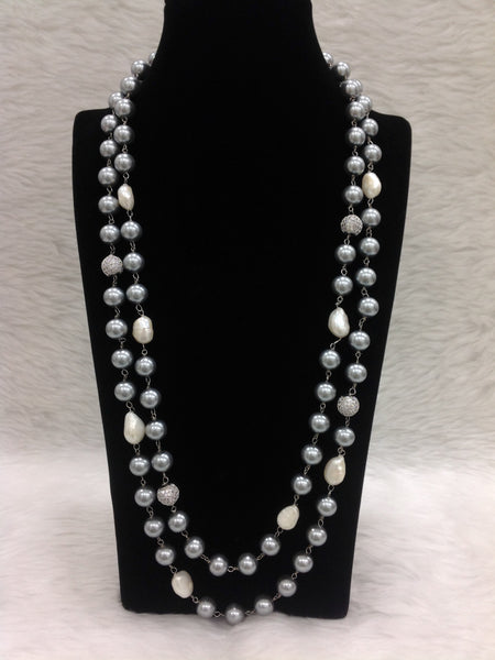 Silvery Freshwater Pearls Necklace