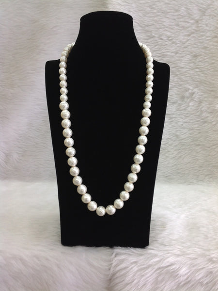 Glistening Marble Polish Pearl Necklace