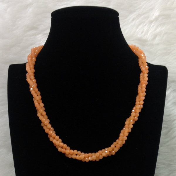 Twisted Orange Chic Necklace