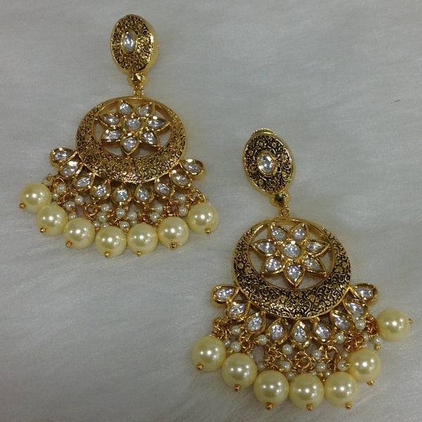 Elegance in Gold & Kundan Choker Necklace Set