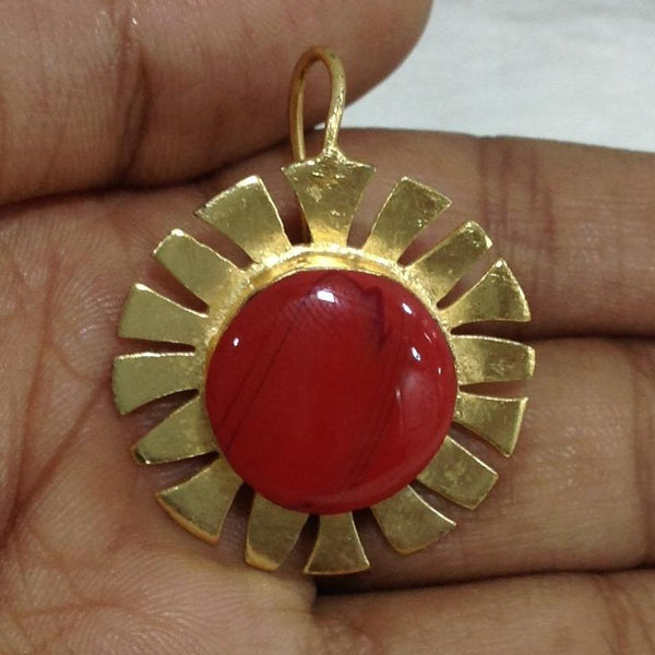 Red and Gold Life Wheal Earrings