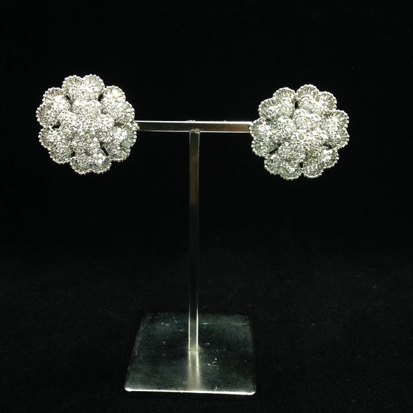 Beautiful Floweret Crystal Earrings