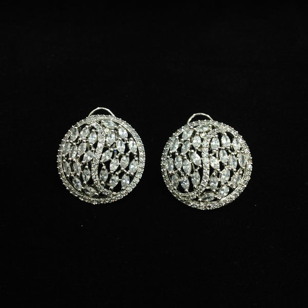 Charismatic Circular Crystal Earrings