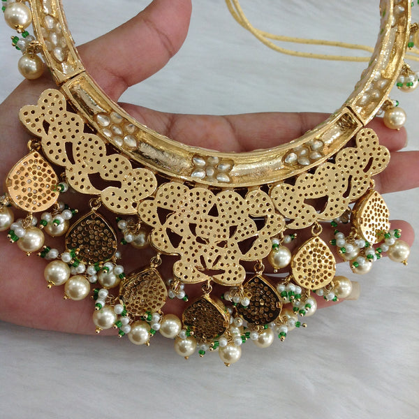 Marvellous Beautiful Meenakari With Kundan Choker Necklace Set