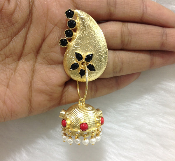 Dangler Gold Jhumka Earrings