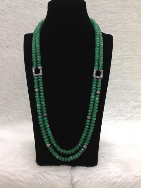 Fern Green Two-stranded Necklace