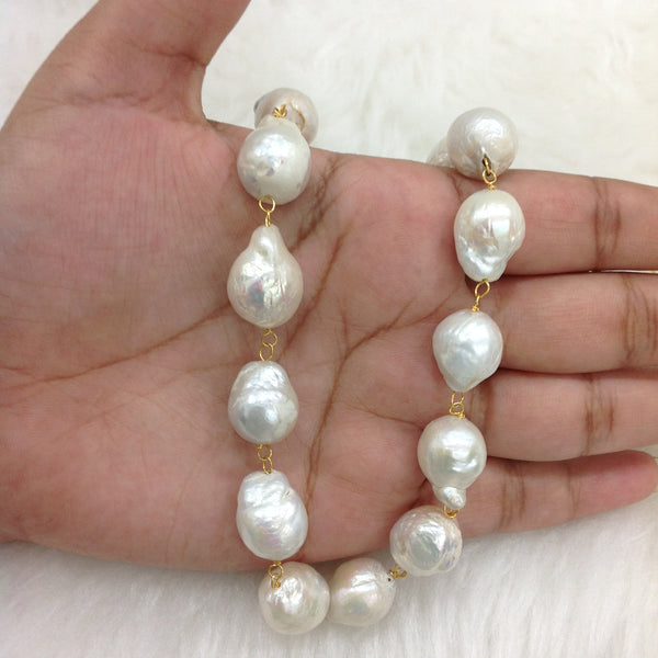 Mix-Shaped Baroque Pearls Necklace