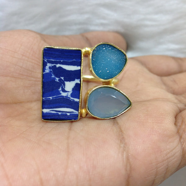 Shades of Blue Ring