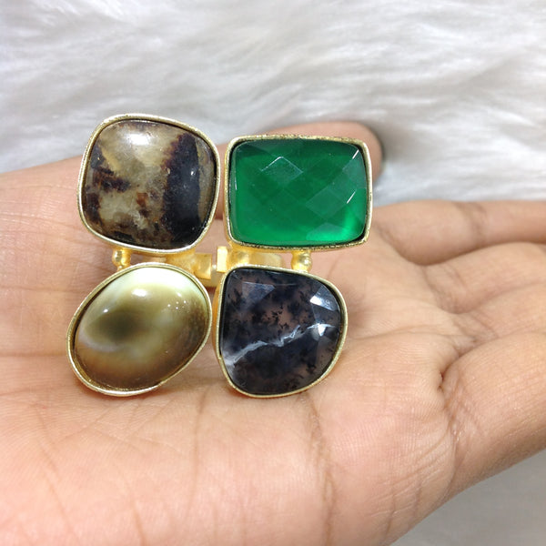 Green with Shades of Brown Ring