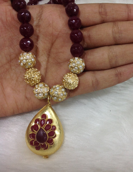 Passion in Maroon Necklace