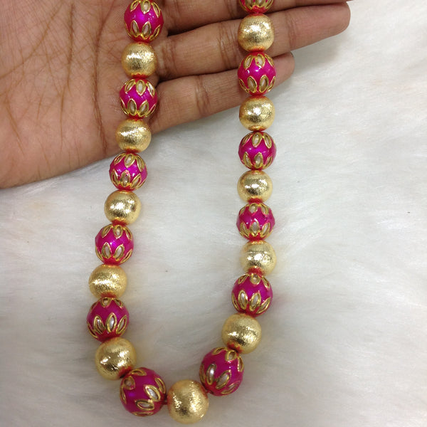 Festive Pink Enamel Necklace