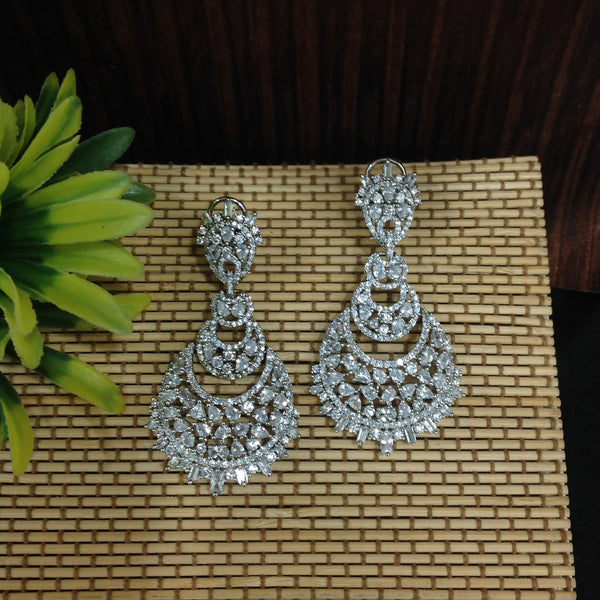 Gigantic Long Beautiful Crystal Chandbali Earrings
