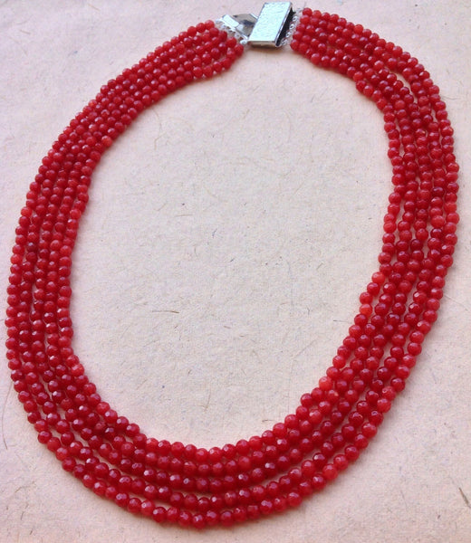 Coral Red Delicious Necklace [product_color]- Deara Fashion Accessories