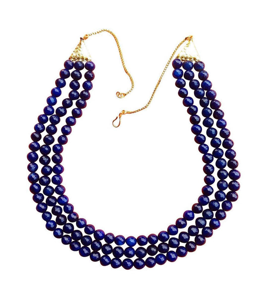 Onyx Aura in Deep Blue Necklace