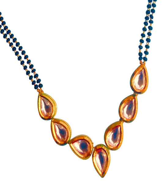 Kundan Sparkle Mangalsutra Mangalsutra [product_color]- Deara Fashion Accessories