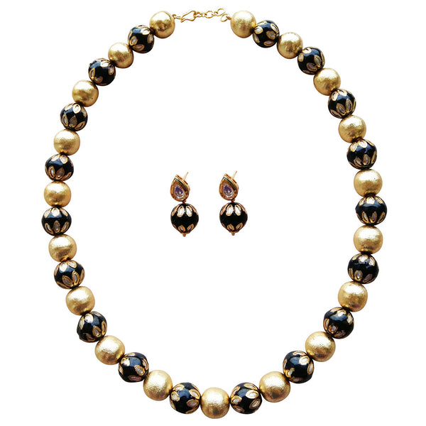 Basic Allure of Black and Gold Necklace [product_color]- Deara Fashion Accessories