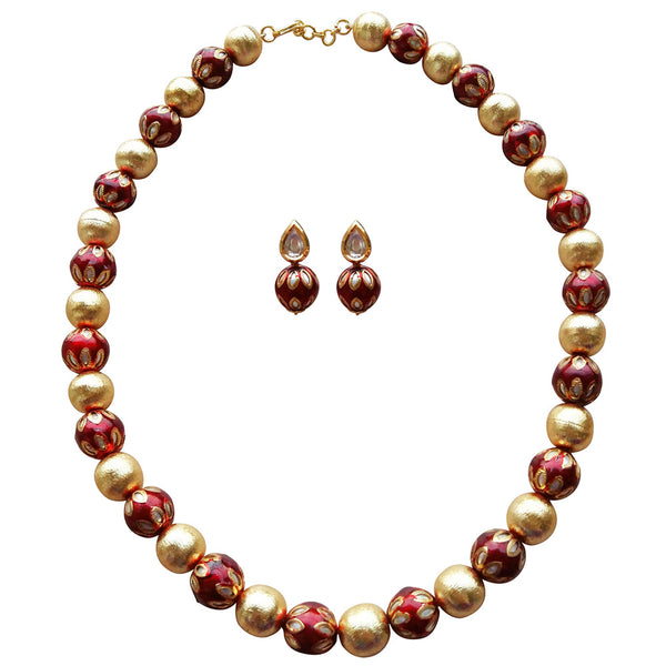 Festive Maroon Necklace Necklace [product_color]- Deara Fashion Accessories