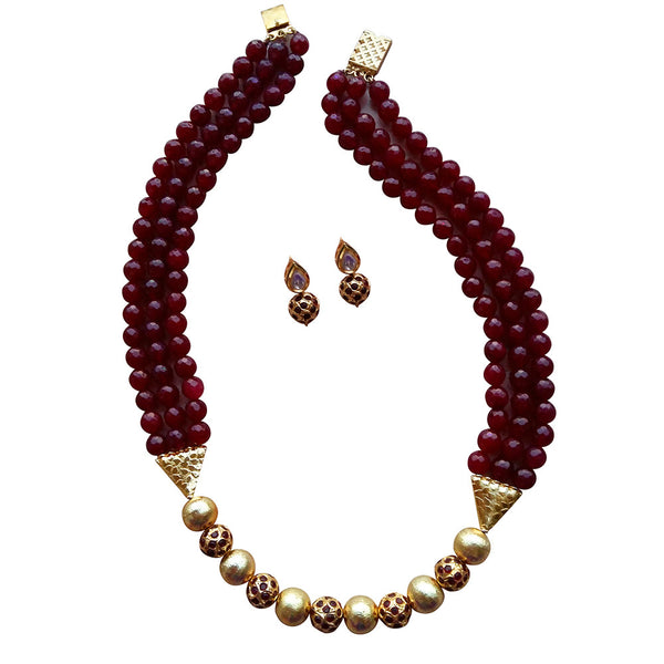 Maroon Paradise Necklace [product_color]- Deara Fashion Accessories
