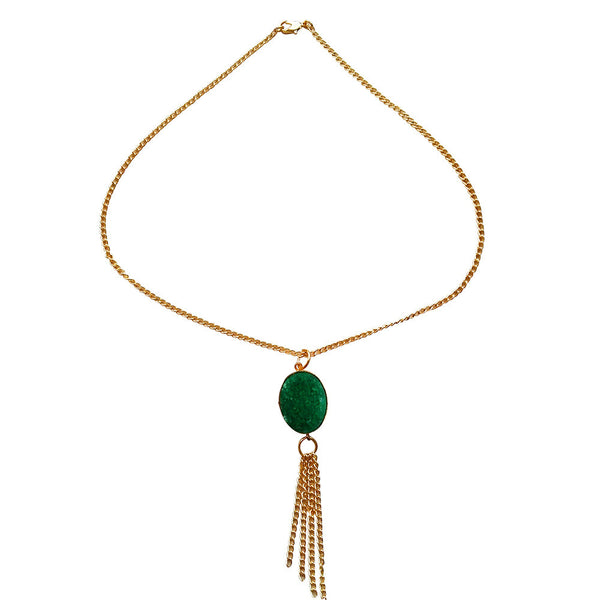 Emerald Elegance Necklace [product_color]- Deara Fashion Accessories