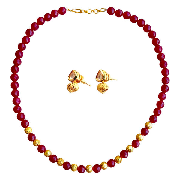 Maroon Cocktail Necklace
