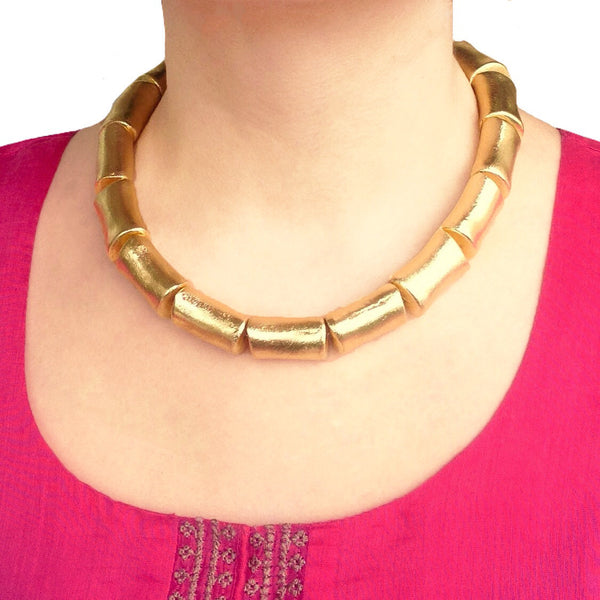 Enigmatic Golden Necklace