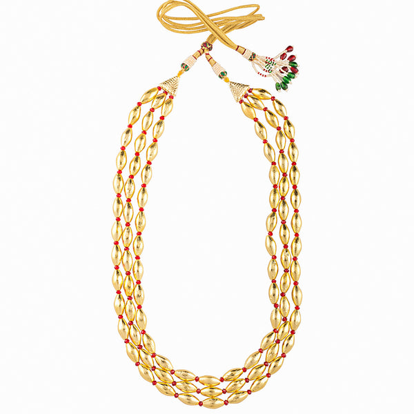 Triple Golden Gehu Necklace