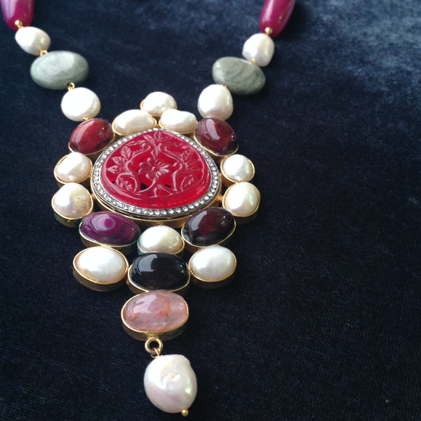Red and Green Royalty Necklace