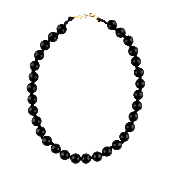 Black Bead Wonder Fashion Necklace