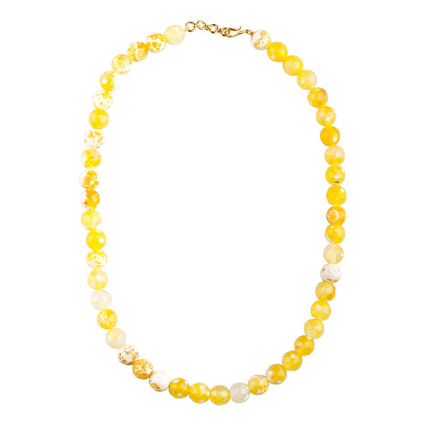 Speckled Yellow Glow Necklace